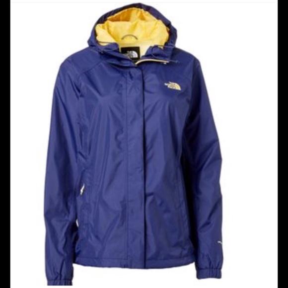 119a4dddf The North Face women's purple & yellow raincoat NWT
